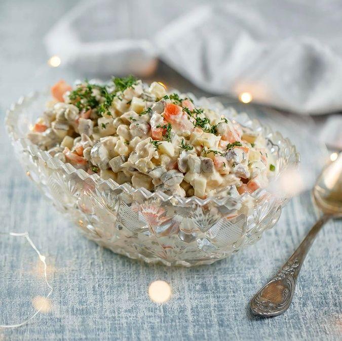 картинки салата оливье и его рецепт
