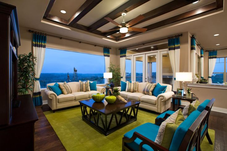 Living Room Turquoise Interior Design #livingroomturquoise #turquoisecolor #trend #livingroomdecor #turquoiseaccent | more inspiring images at http://diningandlivingroom.com/category/living-room/