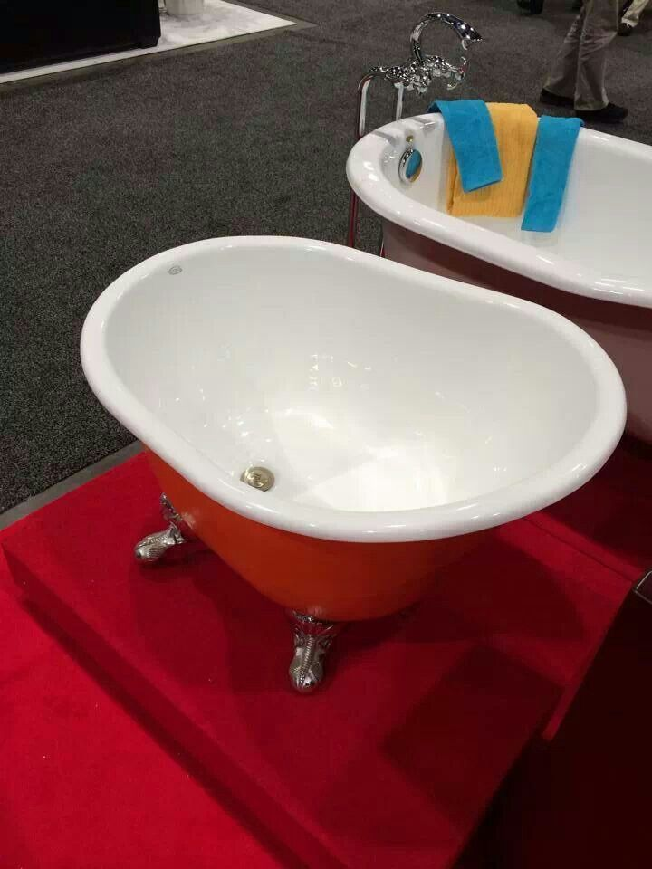 Deep soaker tub for tiny homes. Comes in many colors and a showerhead can be added.