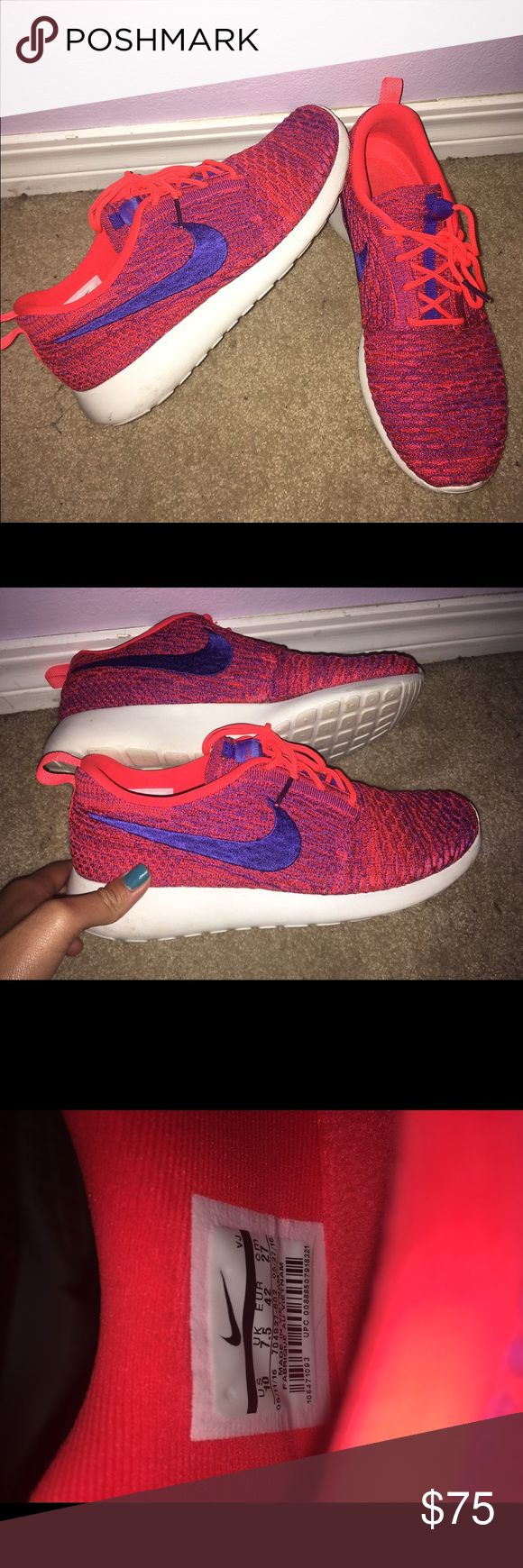 Neon Nike Roshes 1. Hi!! (: are you interested? feel free to bundle. we can bundle almost anything 2. no swapping 3. will clean items upon request 4. any clothing will be washed 5. shipped with in 3 days of purchase 6. have various items not uploaded, so if there are any specific requests i might have it((: 7. ENJOY💖 Nike Shoes Sneakers