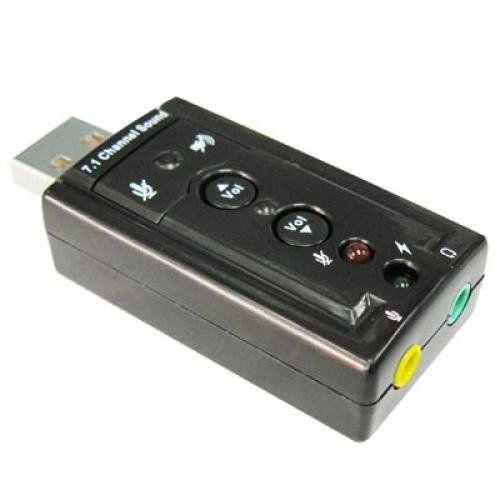 TOOGOO(R) USB 2.0 External Sound Card 3D 7.1 Audio Adapter No Description (