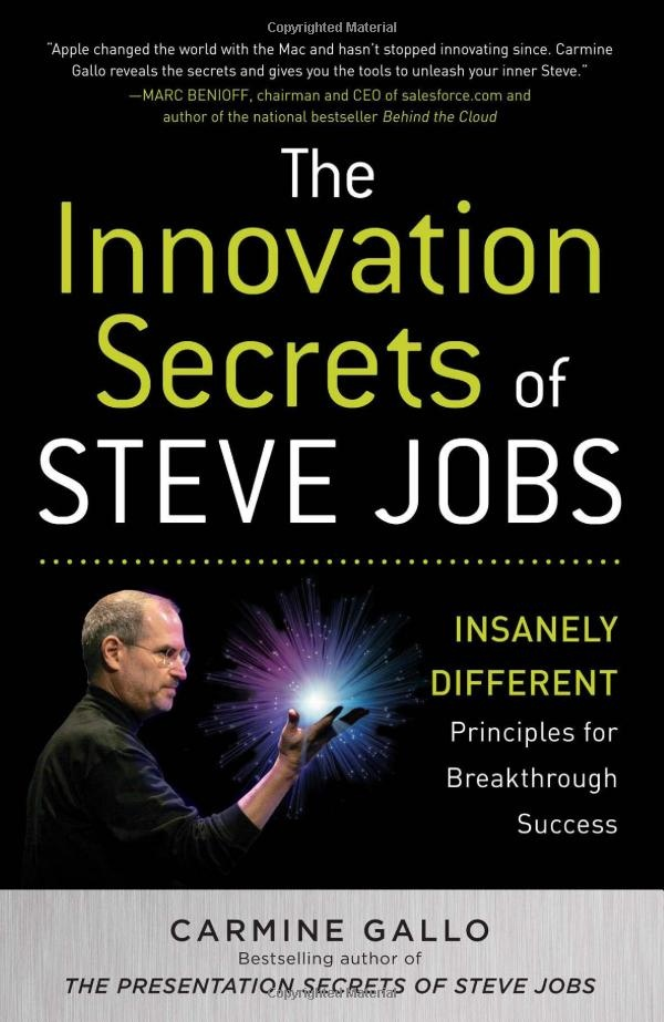 The Innovation Secrets of Steve Jobs: Insanely Different Principles for Breakthrough Success: Carmine Gallo: 9780071748759: Amazon.com: Books