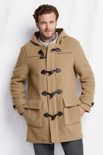 $89, Camel Duffle Coat: Lands' End Tall Wool Duffle Coat. Sold by Lands' End. Click for more info: http://lookastic.com/men/shop_items/3410/redirect