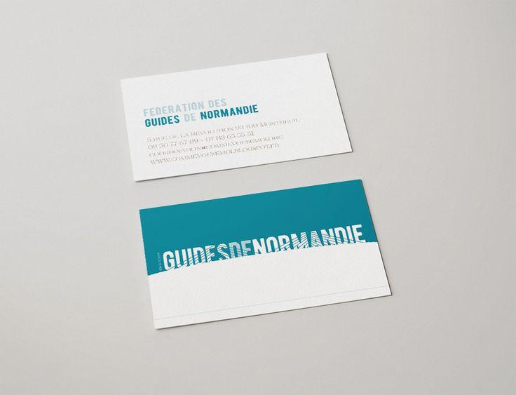 Audrey Lorel Design Graphique Graphiste Graphisme Freelance Projet Client Logo Identite Visuelle Charte Graphique Federation Guide Normandie Carte Visite Autre Proposition Pont