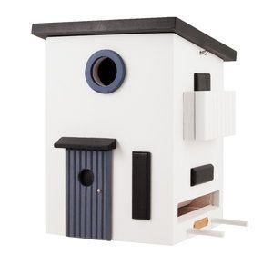 Bird nest / bird feeder in functional and minimalist design. www.wildlifegarden.info  #birdnests #nistkästen #fågelholkar