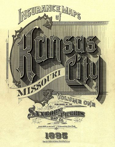 via FFFFOUNDVintage Types, Cities Art, Vintage Typography, Fire Insurance, Kansas City, Kansas Cities, Letters, Insurance Maps, Design