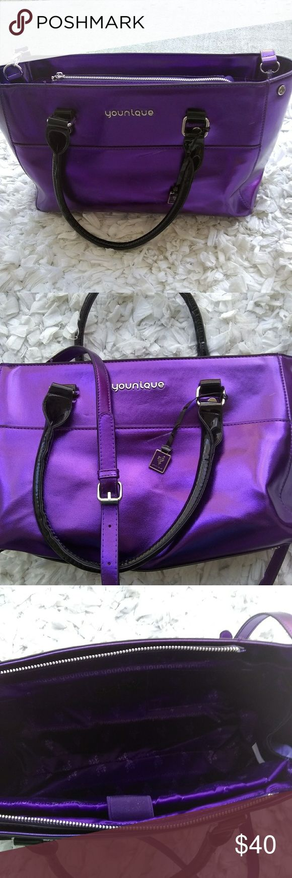 Younique Large presenter Makeup Bag Tote Purple Bags