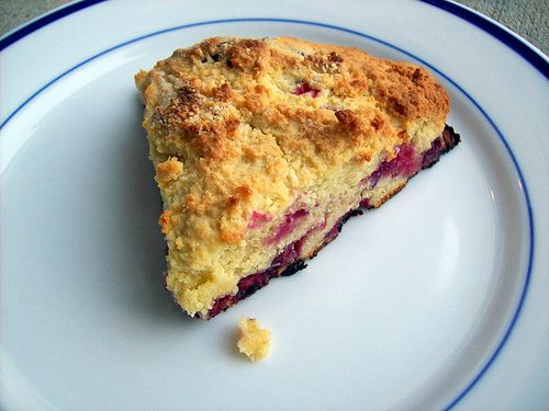 Almond-berry Scones Ingredients: 2.5 cups of almond flour (where to buy) 1/2 tsp sea salt (where to buy) 2 eggs 4 tablespoons honey or other natural sweetener or 4 dates, pureed (where to buy) 1/3 cup melted butter or ghee (where to buy) 1/2 cup fresh or frozen berries