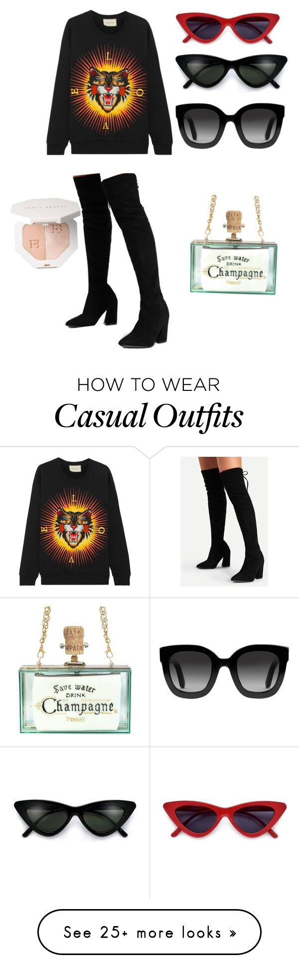 """""""Sexy casual """" by thehaneen on Polyvore featuring Gucci"""