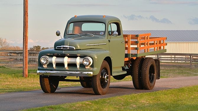 1951 Ford Stake Bed Pickup Flathead V-8, Dual Rear Wheels presented as lot S161 at Houston, TX 2015 - image1