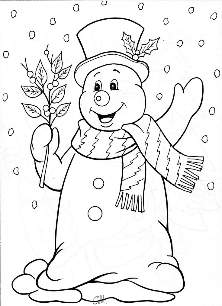 christmas girl snowman coloring pages - photo#37