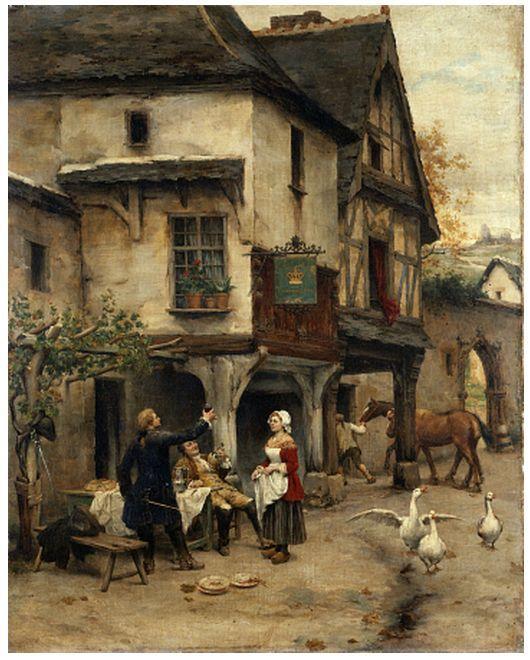 Открытки с репродукциями: Работы французского художника 19-го века Пьера Утина (1840-1899)
