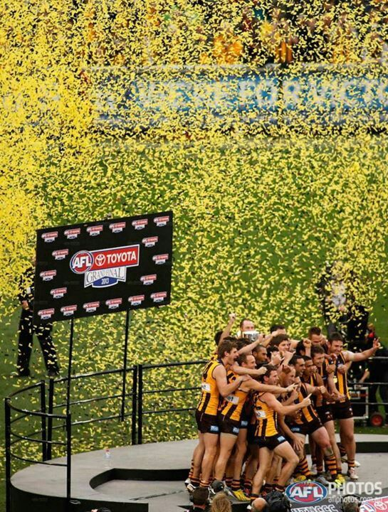 Celebration at the MCG after Hawthorn won the 2013 Grand Final. Thanks for a great day guys!!!!