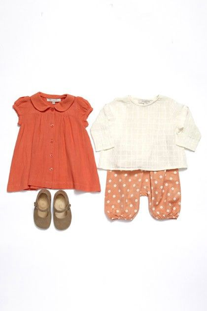 Puppet Show dress O+S Lullaby Layette blouse and pants