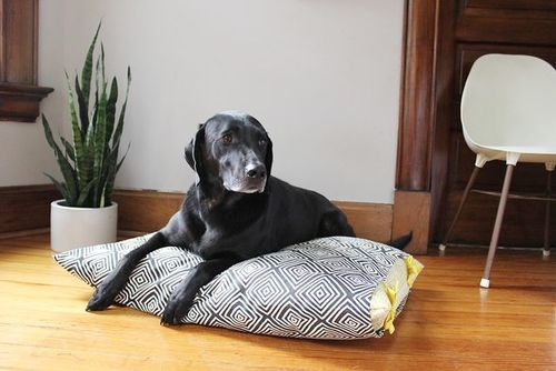We love our pets, and we always craft for those we love! This tutorial for a No-Sew DIY Pet Bed is guaranteed to teach you how to make a homemade dog bed or even a homemade cat bed that your pet will adore.