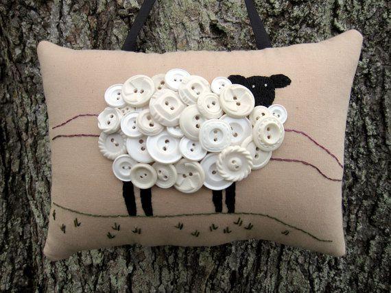 St. Patricks Day Decor Ireland Sheep Primitive par WickedlyCreative