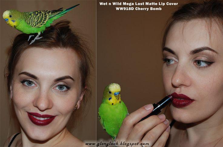 Сливовая помада Wet n Wild Mega Last Matte Lip Cover в оттенке WW918D Cherry Bomb ~ GLORYlook #wetnwild #cherrybomb #darklips