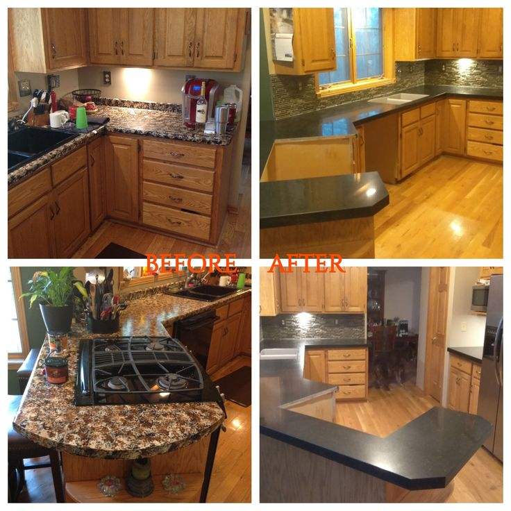 This Homeowner Wnated To Ditch Their 70u0027s Tiger Print For Maintenance Free  Quartz Counter
