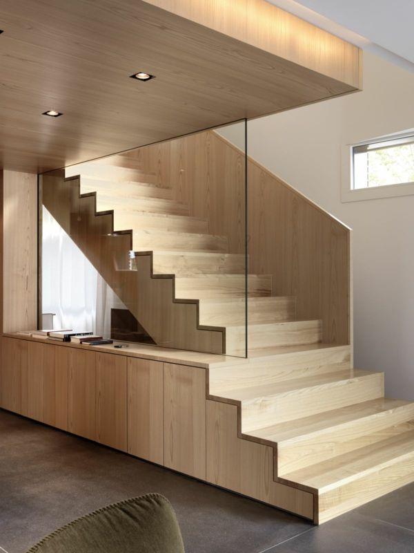 Treppenhaus modern  innenarchitektur treppenhaus design holz modern attraktiv ...