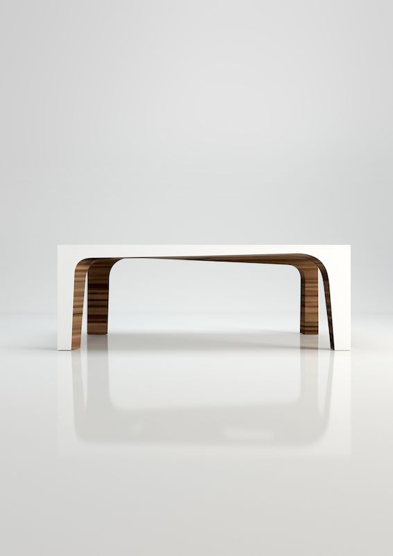 Hemingway - Ivory Collection #engravings #corian #table #design #interior
