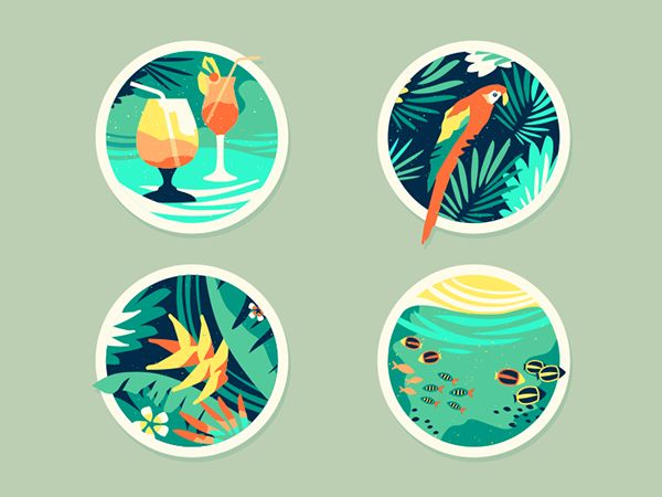 Tropical [Icons] on Behance