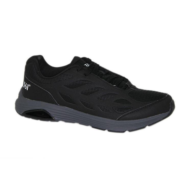 Ανδρικά  παπούτσια τρεξίματος 361 χρώματος μαύρου. Διαθέτουν αντιολισθητική σόλα για άνετο πάτημα. Ιδανικά για αθλητές, αλλά και για άτομα με πολλές ώρες ορθοστασίας στην καθημερινότητά τους. Πολύ οικονομική λύση