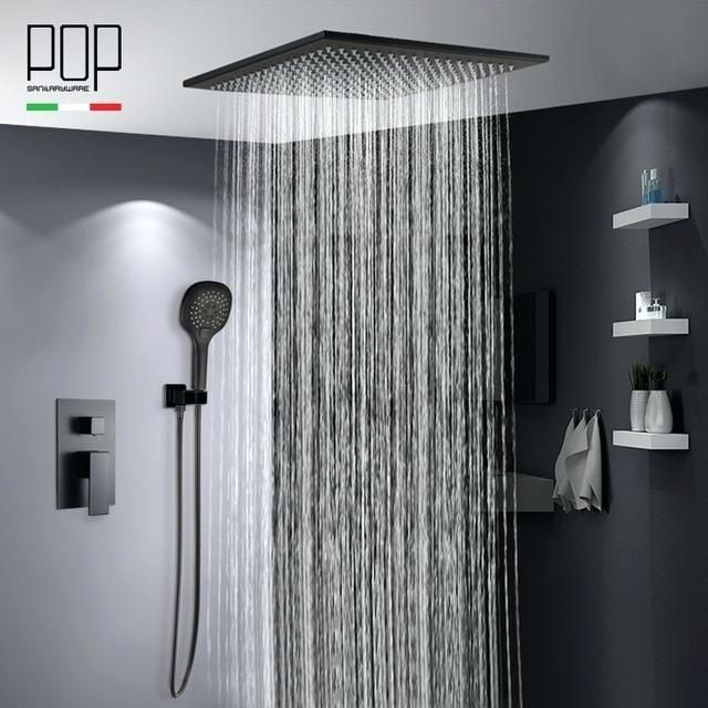 Inspiration Ceiling Shower Heads Pop Bathroom Luxury Rain Mixer Shower Shower Systems Shower Faucet Bath Shower Mixer