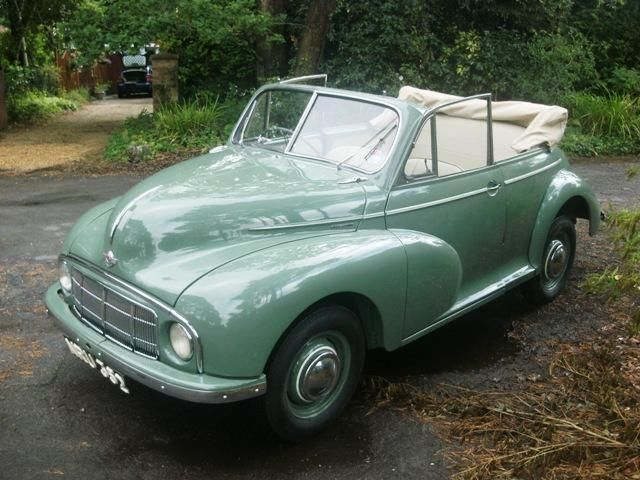 1950 Morris Minor Lowlight Convertible Mum and Dad's 1st car. Finally replaced Dad's bike