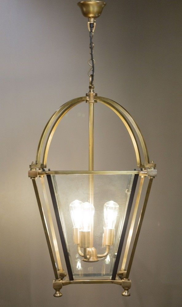 Chester Lantern Pendant Brass Bronze