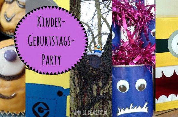 Minions Kindergeburtstag feiern: viele Ideen für Deko, Kuchen, Spiele passend zum Thema Minions für einen lustigen Kindergeburtstag