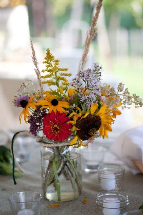 Good Best 25+ Wildflower Centerpieces Ideas On Pinterest | Table Flowers, Jam  Jar Flowers And Jam Jar