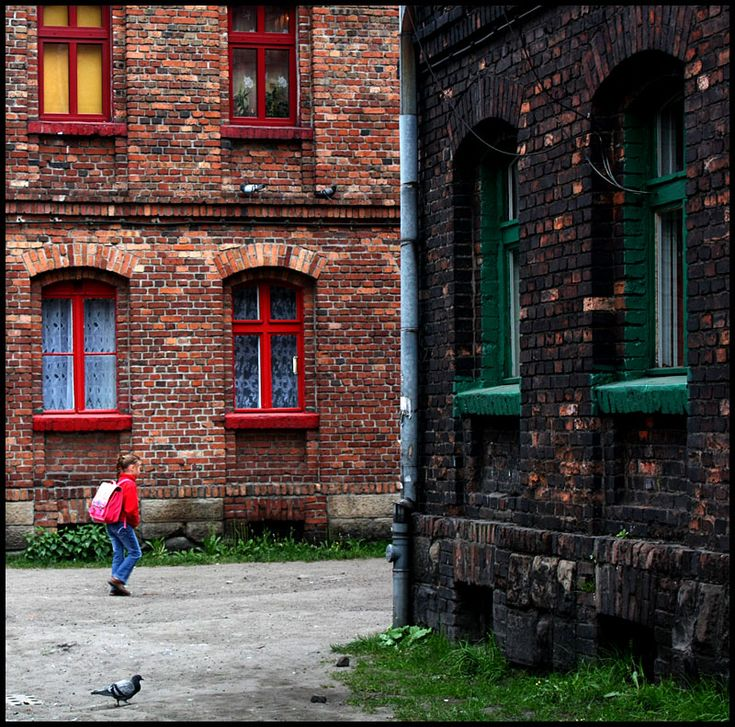 Familok is an old house built with bricks in industrial area in de beginning of XX century. Rather poor conditions with no bathrooms in flats. Ruda Slaska, Slaskie_ West Poland