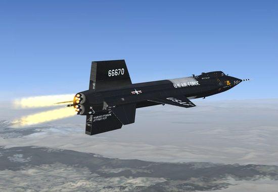 El norteamericano X-15 era una potencia de cohete.
