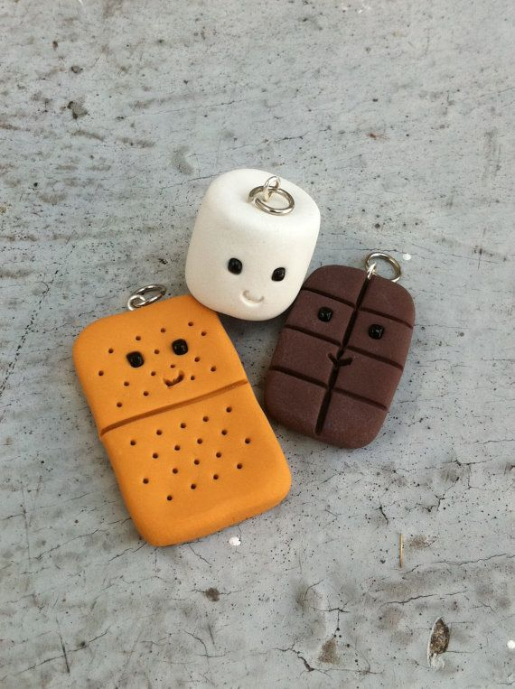 Happy S'mores Best Friends Charm Set by TheTinyKangaroo on Etsy, $8.99