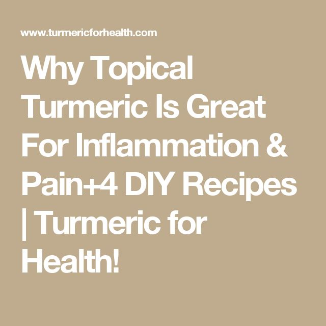 Why Topical Turmeric Is Great For Inflammation & Pain+4 DIY Recipes | Turmeric for Health!