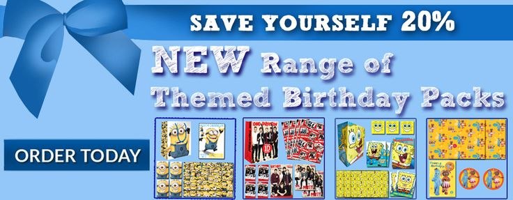 Save 20% when you buy these official birthday packs at danilo.com