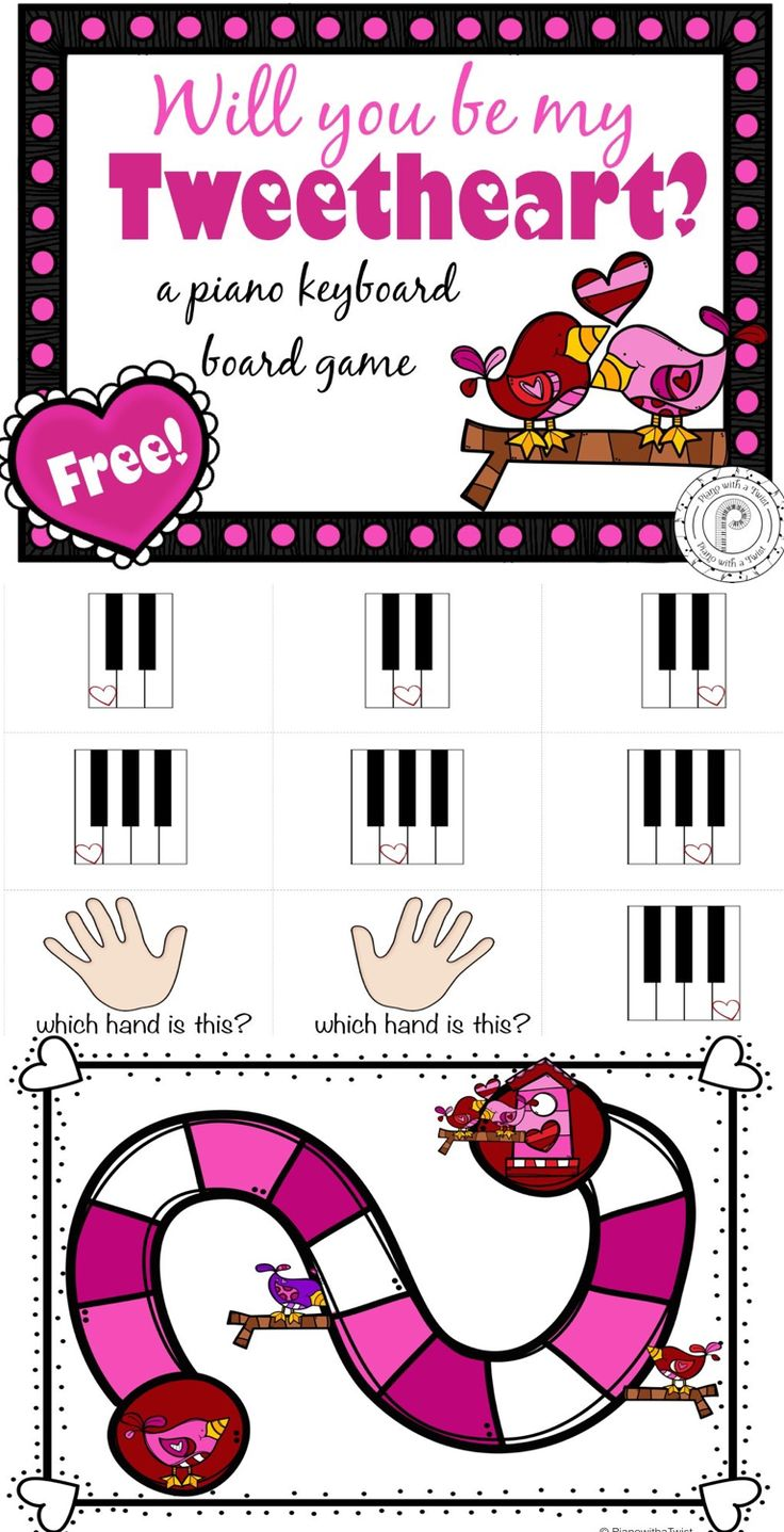 free valentines day music board game reviews the piano keyboard and the right and - Free Valentine Games