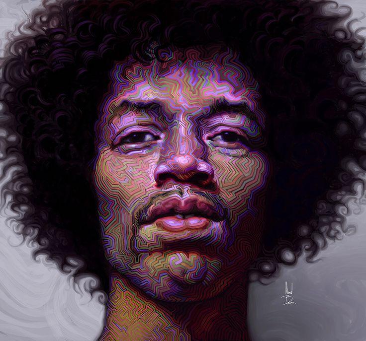JIMI HENDRIX´S PORTRAIT  by Manuel Berrios C. ( chile )