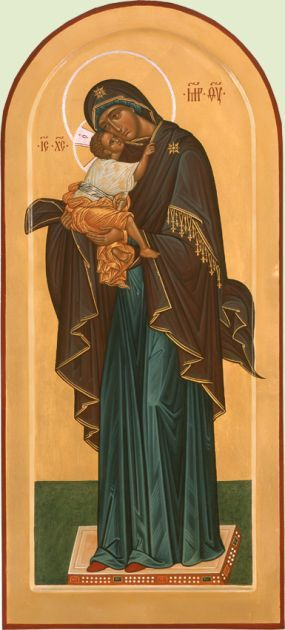 Богоматерь Умиление (ростовая)