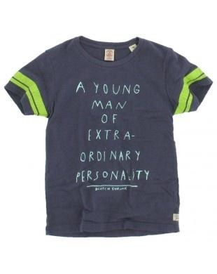 Scotch and Soda Shrunk jongens - T-shirt tekst paars