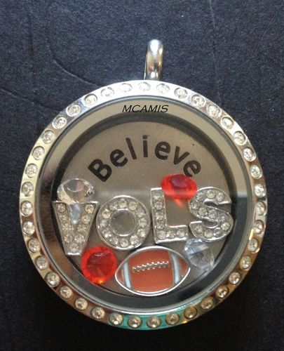 UT Tennessee Vols Sec Football Living Locket Floating Charm Set | eBay for Origami Owl Living Lockets (Charms only)