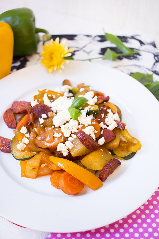 Low Carb Chorizo Gemüsepfanne – Low Carb Köstlichkeiten