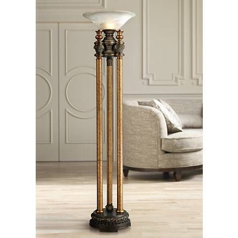 Dimond athena bronze torchiere floor lamp 2x597 lamps plus