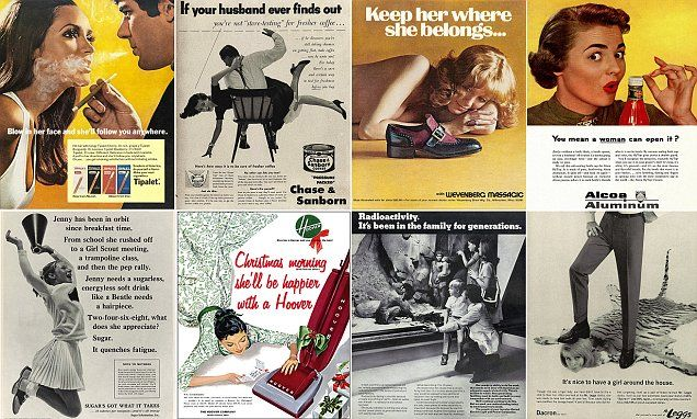 1950s and 60s posters show the sexist and racist campaigns once seen as acceptable | Daily Mail Online