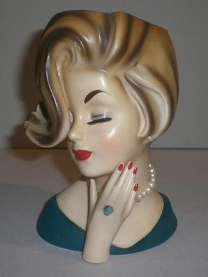 297 Best Lady Head Vases Images On Pinterest Vintage Vases Wall