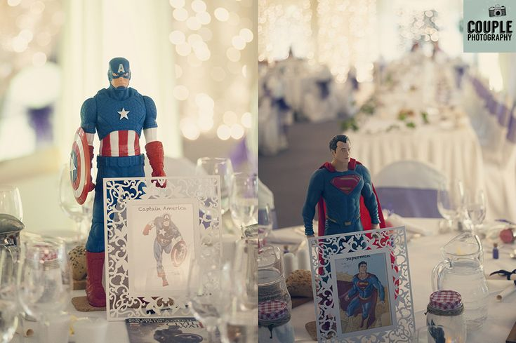 The bride & groom decided on a joint theme of Disney and Marvel Superheros…