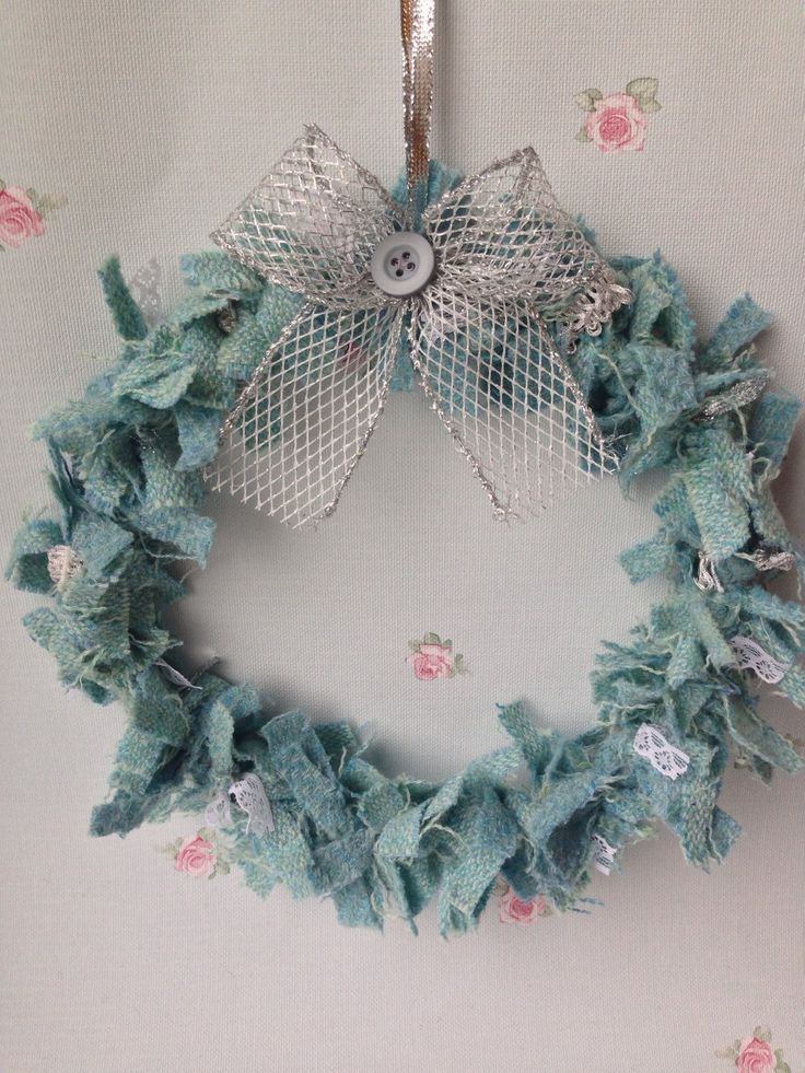 A personal favourite from my Etsy shop https://www.etsy.com/uk/listing/267253202/tweed-rag-wreath-with-decorative-bow