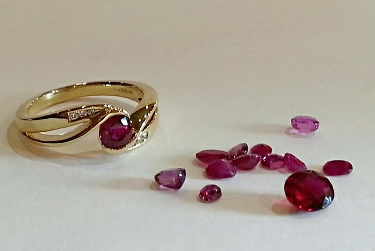 Ruby is the July birthstone and is one of the higher-priced color gemstones. It is a pink to blood-red colored gemstone and has a hardness of 9.0 on the Mohs scale of mineral hardness.   Many people don't know that Ruby is actually a red Sapphire.   And guess what? The Gem Gallery has natural Rubies in stock!