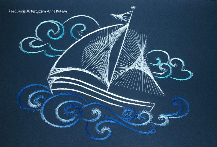 Stiched schip by Anna Kułaga