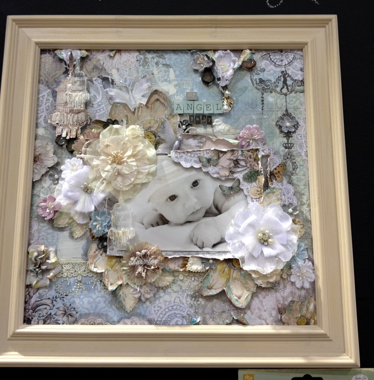 What A Great Idea For Special Picture Looks Like Lot Of Lace Was Used Perhaps From Including Embellishments